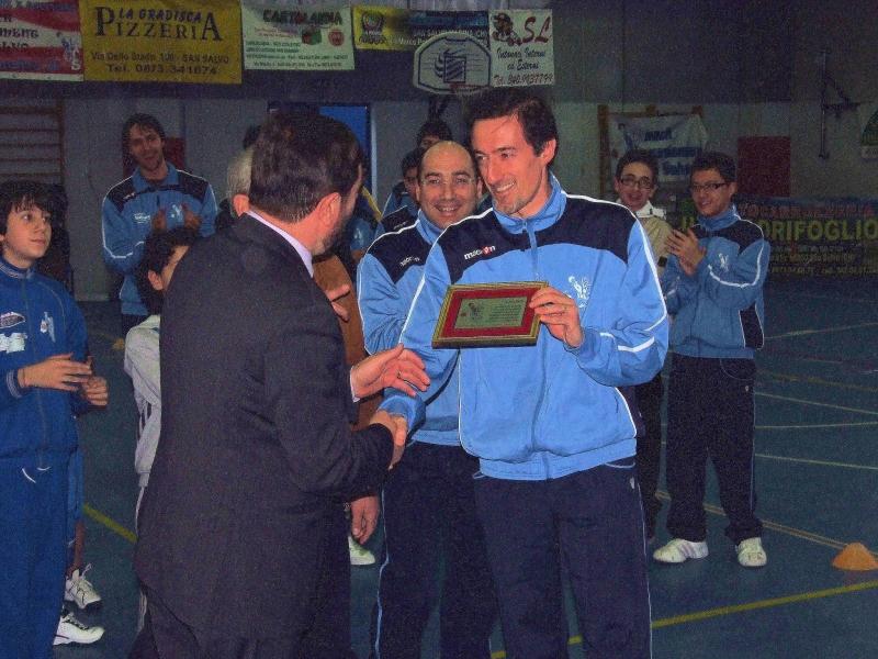 Premiazione al giocatore M. Aquino