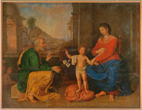 Dipinto della Sacra Famiglia conservato nella Chiesa di San Giuseppe