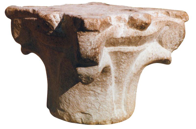 Capitello composito, del X sec circa, <br />appartenente alla chiesa di Sant'Angelo in Salavento