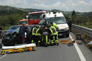 Foto dell'incidente di maggio