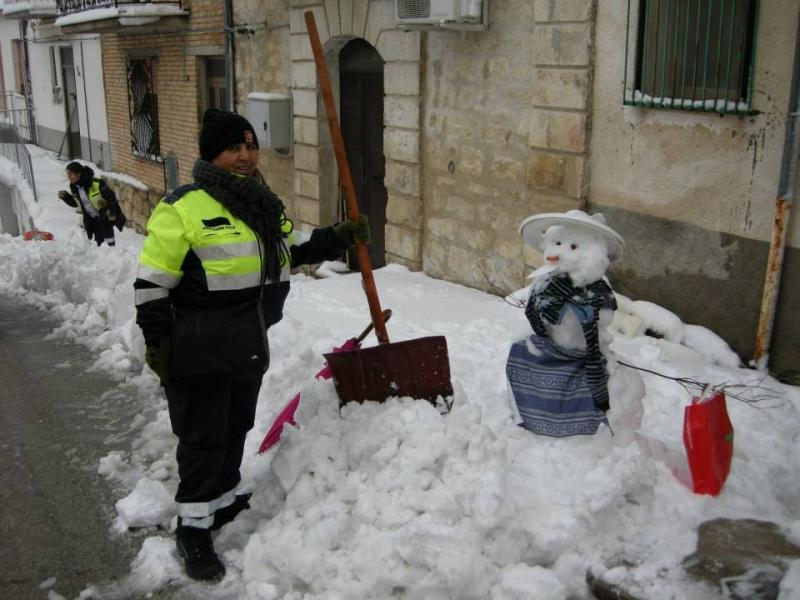 La Protezione civile di Furci all'opera