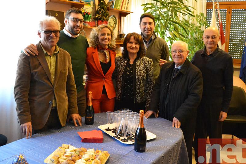 La giunta con il presidente di Assostampa Vasto, Giuseppe Catania