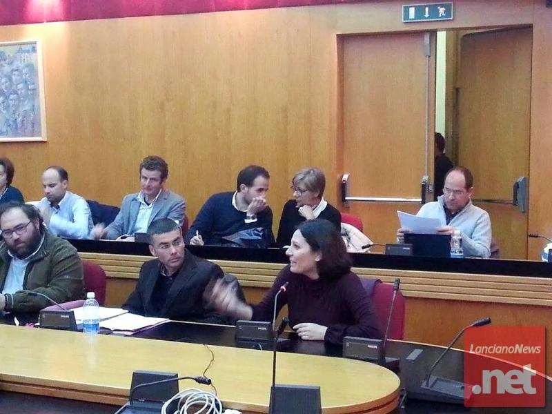 Daniela Aiuto al consiglio comunale lancianese