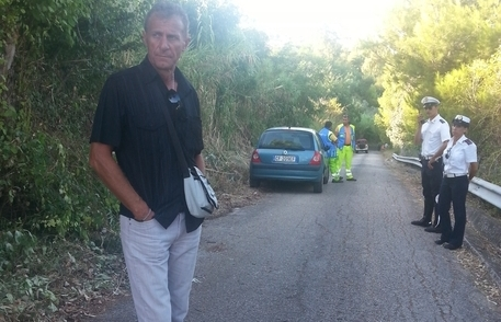 Italo Gizzi sul posto