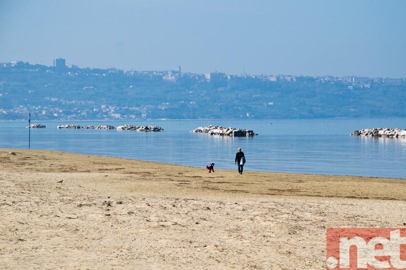 Un tratto della spiaggia sansalvese