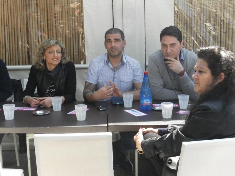 Antonio Cane con il sindaco e l'assessore Faienza