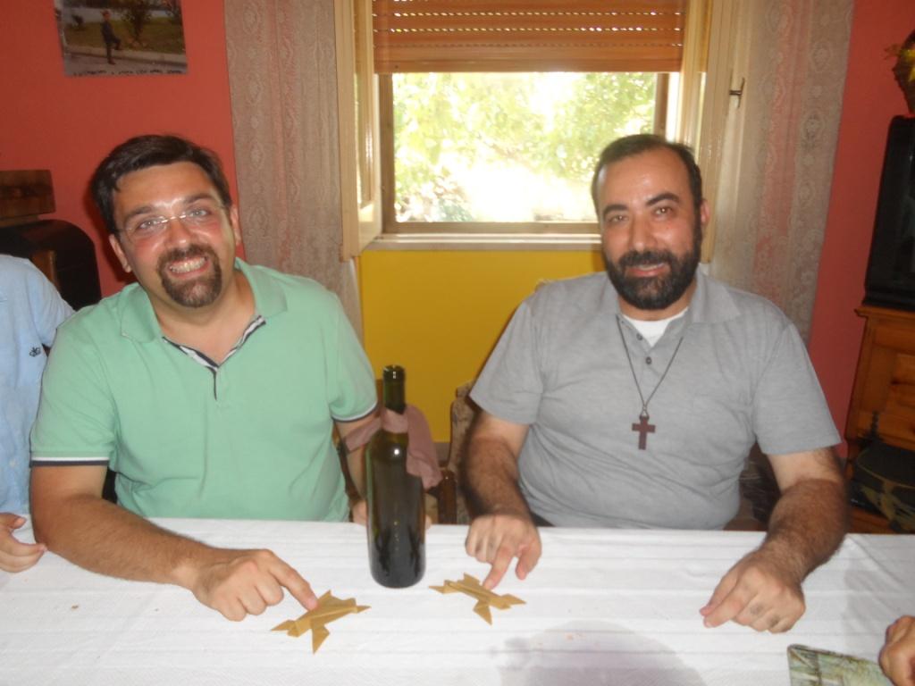 don Gianfranco Travaglini e il Pastore Luca Anziani