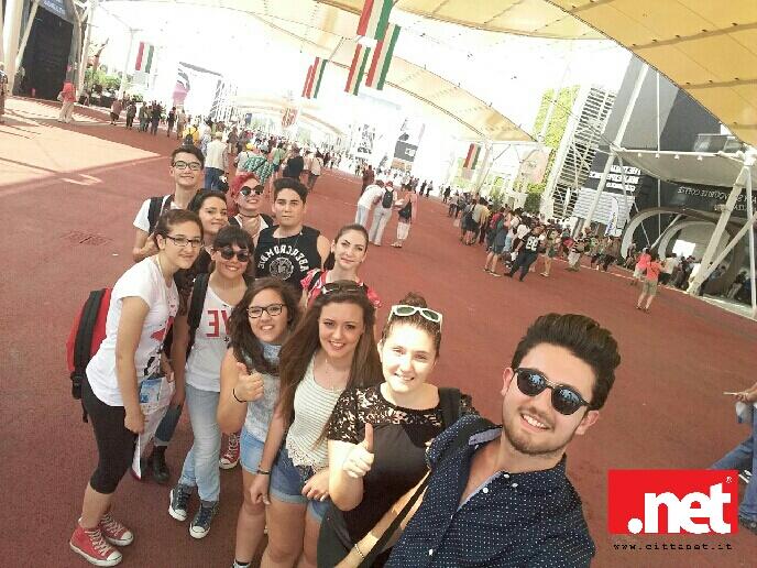 Un gruppo dei ragazzi all'Expo