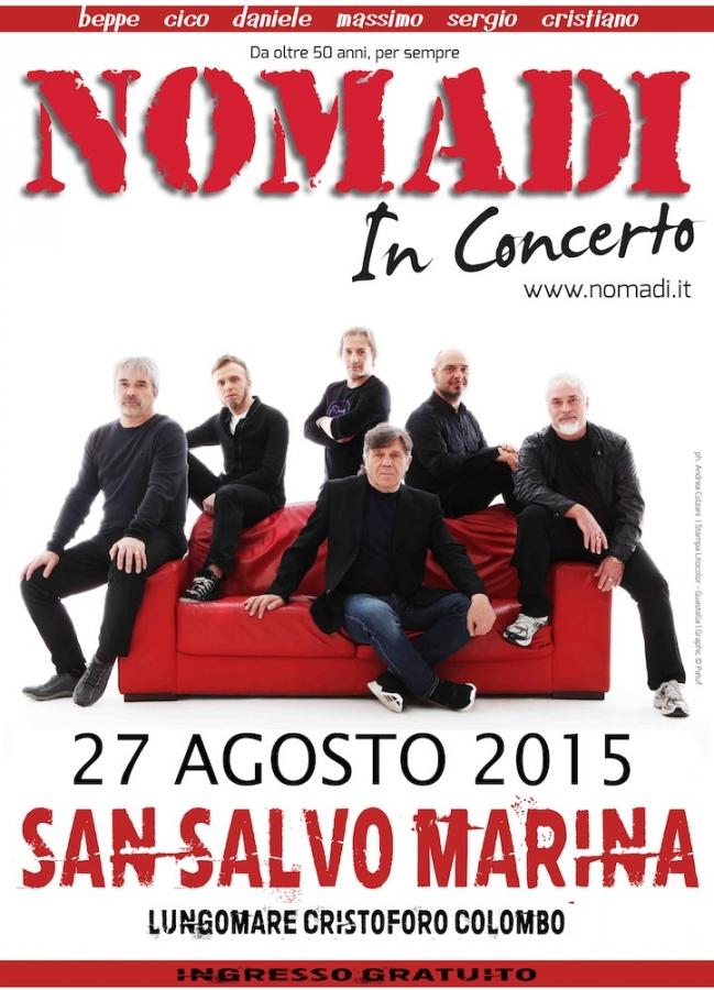 Calendario Concerti Nomadi.I Nomadi In Concerto A San Salvo Domani L Atteso Concerto