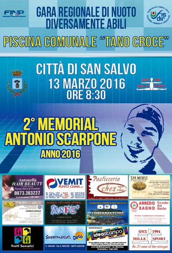 2 memorial antonio scarpone l 39 appuntamento con il nuoto - Piscina comunale san salvo ...