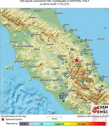 Terremoto centro Italia: oltre 60 scosse, notte da incubo