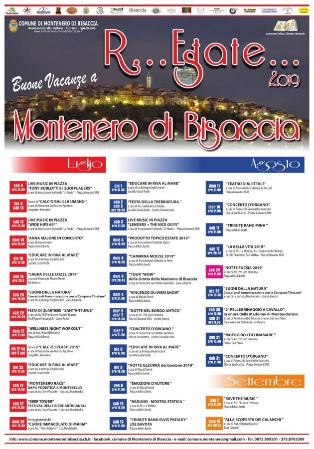 Tutti I Santi Del Calendario.Montenero Di Bisaccia Pronto Il Calendario Dell Estate 2019